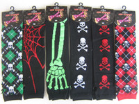 Wholesale New Pairs Popular Arm Warmer Fashion Long Gloves Skull Fashion Party Gift