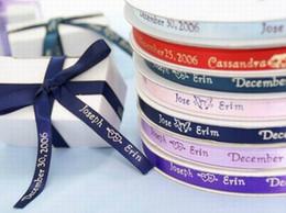 Wholesale Personalised Printed Ribbon Wedding Decoration Favor Ribbon