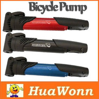 Wholesale High quality Mini Portable Bike Bicycle Tire Inflator Air Pump Skidproof Blue Red Black Three Colors
