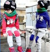 Boy baby tracksuit - Children s autumn cute boys girls cartoon clothes set piece sets baby tracksuits set