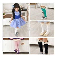 Wholesale Baby Girl Socks High Socks Kids Lace vivi Deodorize Bow Stocking Tights highs Mnlticolor Socks