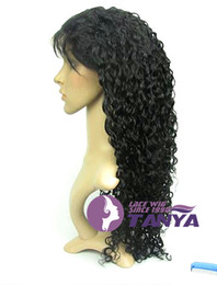 Wholesale Water Wave Lace Front Wig inch Indian Human Hair Available inch French Lace Stretch Net