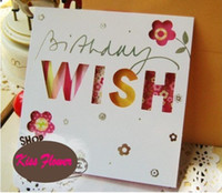 wholesale gift cards - Sweet wish lovely for you happy birthday gift card greeting christmas printed card kid gift
