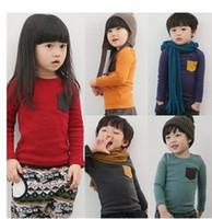 3T-8T plain long sleeve - children Candy Color T shirt Long Sleeve Cotton T shirt Boys and Girls Plain Colorful T Shirts