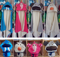 Unisex baby tubs infant - New Infant Baby Boys Animal Hoodied Bathrobes Elephant layers Designs for choose Bath Robe Tub
