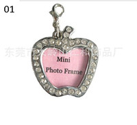 Wholesale Dog Tags Cats ID Tags Pets Name Tags Dog Identification Tags Zinc Alloy Rhinestone Min Photo Frame