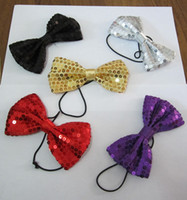 Wholesale paillette bow tie bling bow tie color mixed cm via China post