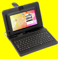 Wholesale 7 inch Leather Case With USB Keyboard For Tablet PC Superpad Zenithink Allwinner