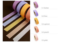 Wholesale new arrival japanese M paper idesk masking tape colors solid washi tape