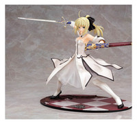 Wholesale 23cm Fate Stay Night Saber lily Win the swords of gold pvc