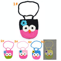 crochet bag - Girl Kids Handmade Crochet Cute Owl Bag Crochet Children Owl Bag Baby Knit Purse Aminal Coin Bag