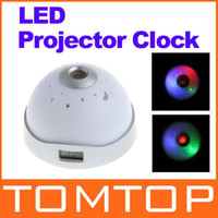 Wholesale Starry Night Sky LED Projector Alarm Clock Color Change White dropshipping H8626