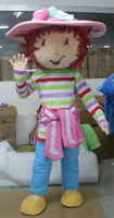 Wholesale Strawberry Shortcake Cartoon Mascot Halloween Costumes Strawberry Girl Fancy Dress Adult Suit Customized Mascots