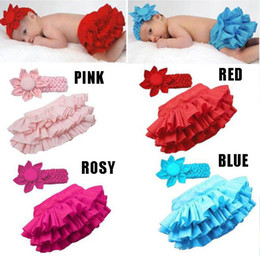 Children's suits Baby clothing Baby girl Flower Headband+Ruffle lace tutu skirt 2pcs suit.