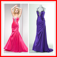2013 On Sale Sexy Popular Mermaid Halter Long Taffeta Long E...