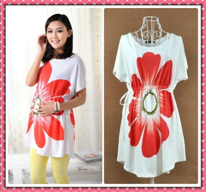 2017 Fashion Maternity Wear Clothing Summer Long T Shirt Dress ...