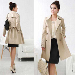 Wholesale AAAA quality New woman Coat Long clothes trench windcheater trench coats two color