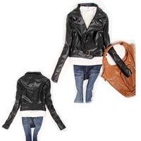 abbey dawn - New Abbey Dawn woman coat Jackets Pu Leather clothes Fashion Outwear Black