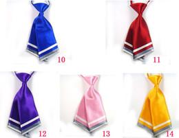 Wholesale Solid Color Fashion Blue Women Necktie Crew Cut Cravat Ties Service Neckwear can choose color