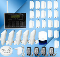 Wholesale 30 OFF New Home Wireless Security GSM Alarm System with Touch Keypad Auto dialer LCD Screen B