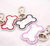 Wholesale Dog bone style Dog Metal Tag Cat Pet ID Name Tags Collar Charm