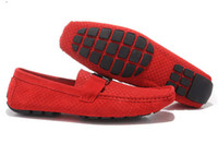 al por mayor los zapatos de los conductores-¡2 colores! Zapatillas para hombre de pieles de gamuza Zapatos de botas para hombre Zapatos de conductor para zapatillas deportivas ocasionales lywd23