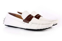 Wholesale Mens Loafer Shoes Men s White Boat Shoes Leisure Shoes Slip on Casual Comfort Driver Shoes lywd29