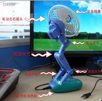 Wholesale Cute robot design fan Portable fan Mute PC Laptop USB Cooler Cooling mini Desk Fan