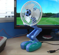 Wholesale portable fan with Cute robot design Mute PC Laptop USB Cooler Cooling mini Desk Fan