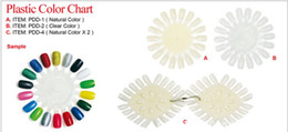 Wholesale Clear plastic tips nail art display wheel Nail Color Chart Display kinds for choose
