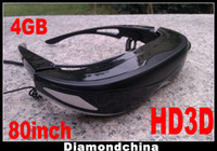 Wholesale HD D inch Video Glasses G Memory Internal Home Theatre EMS