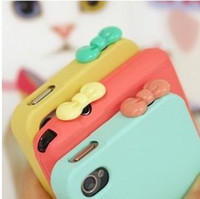 Wholesale Butterfly Bowknot Dustproof Ear Cap Plug for iPhone S Ipad Itouch Candy Colors