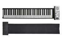 Wholesale 61 Keys Flexible Piano Roll Up Soft Electronic Foldable Keyboard Synthesizer With MIDI Out