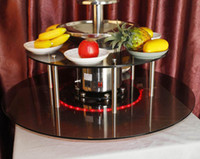 Wholesale Newest Commercial Adjustable Tiers Electric Chocolate Fondue Fountain Maker With Led Light