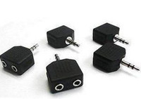 Wholesale MM Headphone jack Splitter Adapter for Ipod MP3 MP4 mm