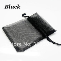 Wholesale x12cm Drawstring Black Organza Bags Jewelry Bags Gift Bags Ten Colours