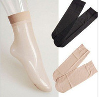 Wholesale Fashion Ladies Nylon Silk Stockings Multi Color Short Silk Socks SM