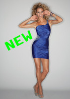 Reference Images One-Shoulder Satin Custom Made Sexy Short Prom Dresses One Shoulder Beaded Satin Lace Up Tight Cocktail Party Dresses