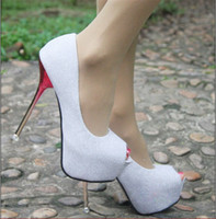 Wholesale Women s shoes Fish mouth shoes Super high heels Wedding shoes club party Ladies shoes