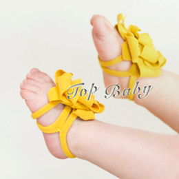 Wholesale Yellow Top Sale Barefoot Sandals Red Baby Shoes Toddler Shoes Sandals kids Foot Ring Health Fabric