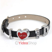 Wholesale I love D One Direction Black Wristbands Crystal Letters Silicone Bracelets