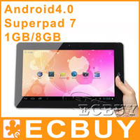 Wholesale Flytouch SuperPAD GB GPS HDMI inch Allwinner A10 Tablet PC Android G G G G