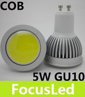 Wholesale 2013 Newest COB W GU10 Led Spot Light Bulb LM Cool Warm White Led Downlight Lamp V