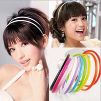 Wholesale Korean jewelry simple bright candy color hair bands mm headband hair accessories l