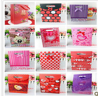 Wholesale Wedding party gift bags large candy box creative handbag bags colorful pakage bags