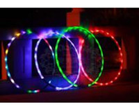 Wholesale 6pcs quot cm LED Hula Hoop with LED colors Glow Performance Hoop Sports Toys Loose Weight