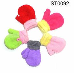 Wholesale Baby boys girls Gloves Mitten Children s Warm keeping Glove Cartoon cute