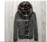 Wholesale 2012 New Style Pullover Thick Cannabis With Cap Sweatercoat Thicken Solid Color Men Sweater NTFW