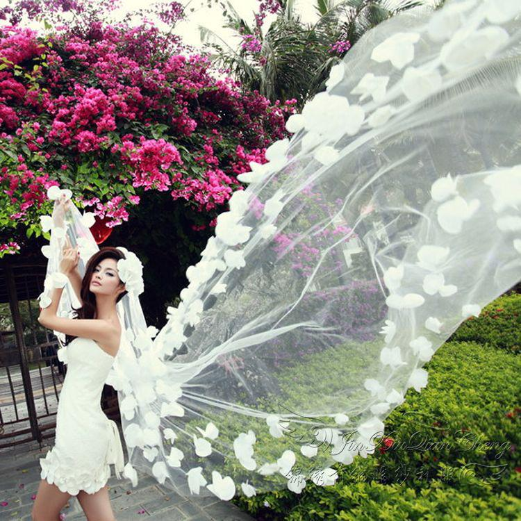 2015 New Style Lace Flower Wedding Veils Cheap Wedding Veil Wedding Accessory Wedding Bridal
