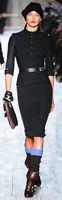 Wholesale Fashion office lady long sleeve Military uniform slim dresses